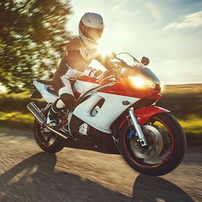 Motorradfahrer Führerschein